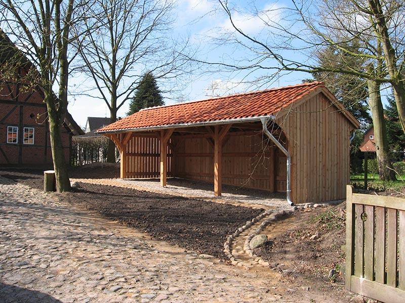 Neubau eines Holzlagers